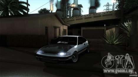 Honda CRX JDM pour GTA San Andreas vue de droite