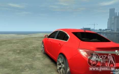 Opel Insignia OPC 2010 pour GTA 4 Vue arrière de la gauche