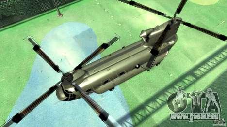 CH-47 pour GTA 4 Vue arrière
