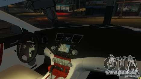 Toyota Highlander 2012 v2.0 pour GTA 4 est un côté