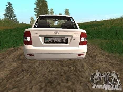 VAZ Lada 2170 Priora für GTA San Andreas Rückansicht