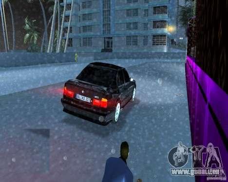 BMW M5 E34 1990 pour GTA Vice City sur la vue arrière gauche