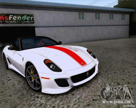Ferrari 599 GTO 2011 v2.0 pour GTA San Andreas vue intérieure