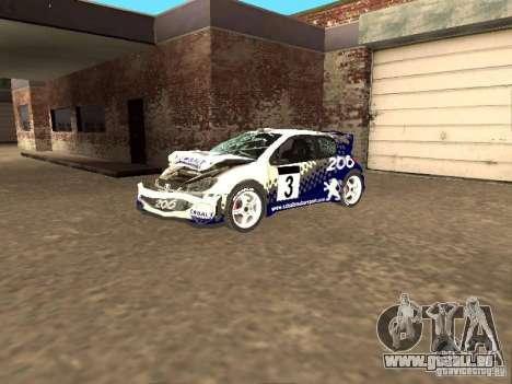 Peugeot 206 WRC de Richard Burns Rally pour GTA San Andreas vue de côté