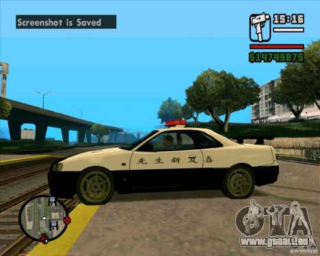 Nissan Skyline Japan Police pour GTA San Andreas laissé vue