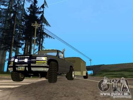 Trailer für den Chevrolet Silverado 2012 für GTA San Andreas linke Ansicht
