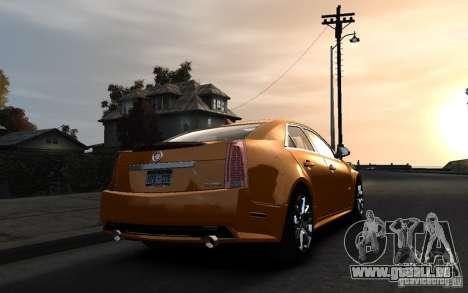 Cadillac CTS-V 2009 pour GTA 4 est une gauche