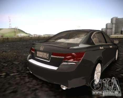 Honda Accord 2011 pour GTA San Andreas sur la vue arrière gauche