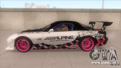 Mazda RX-7 FD K.Terej pour GTA San Andreas laissé vue
