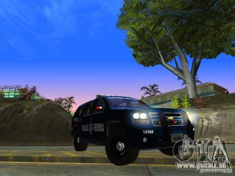 Chevrolet Tahoe 2008 Police Federal pour GTA San Andreas vue arrière