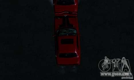 Dodge Challenger SRT8 2009 pour GTA San Andreas vue de dessus