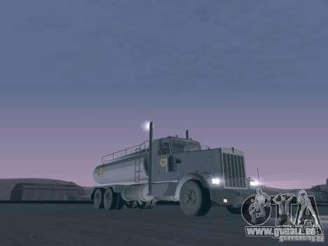 Kenworth Petrol Tanker pour GTA San Andreas laissé vue
