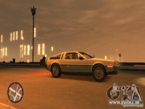 De Lorean DMC 12 pour GTA 4 Vue arrière de la gauche