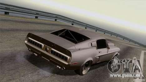 Shelby GT500 1969 pour GTA San Andreas vue de dessus