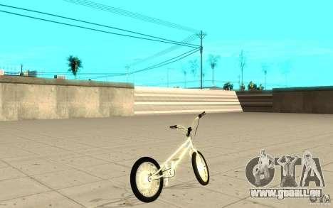 Trail Bike Chrome pour GTA San Andreas sur la vue arrière gauche