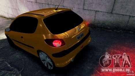 Peugeot 206 pour GTA 4 est une gauche