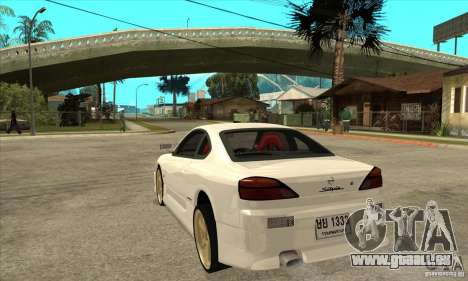 Nissan Silvia pour GTA San Andreas sur la vue arrière gauche