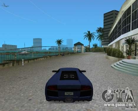 Lamborghini Murcielago LP640 pour GTA Vice City sur la vue arrière gauche