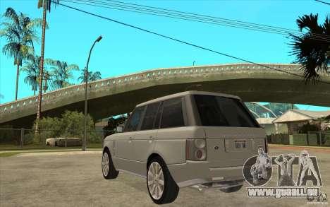 Land Rover Range Rover Supercharged 2009 für GTA San Andreas zurück linke Ansicht