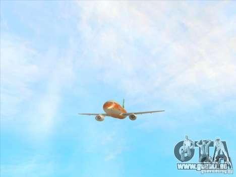 Sukhoi Superjet-100 pour GTA San Andreas vue de côté