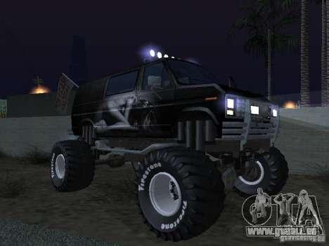 Ford Grave Digger pour GTA San Andreas vue de dessus