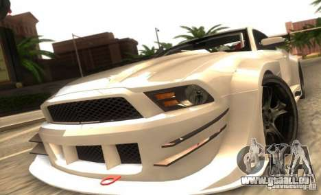 Ford Mustang Shelby GT500 V1.0 pour GTA San Andreas laissé vue