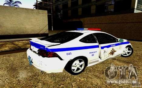 Acura RSX-S Polizei für GTA San Andreas obere Ansicht
