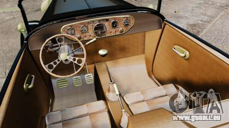 Ford Model T Sabre 1924 pour GTA 4 est une vue de l'intérieur