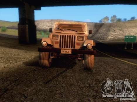 Jeep Wrangler 1994 für GTA San Andreas obere Ansicht