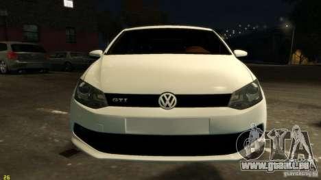 Volkswagen Polo v1.0 pour GTA 4 est une vue de l'intérieur