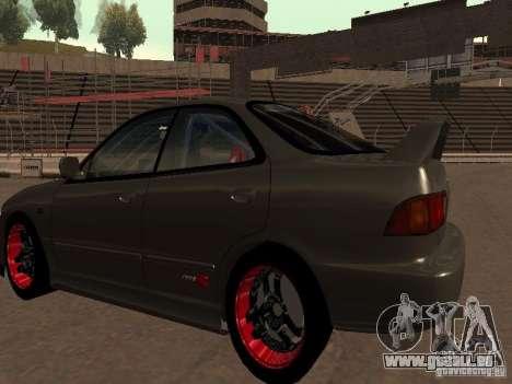 Honda Integra TypeR pour GTA San Andreas vue de droite