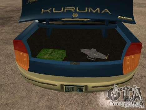 HD Kuruma pour GTA San Andreas vue arrière