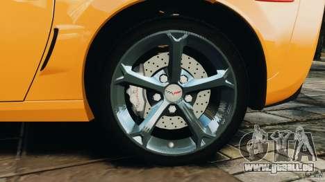 Chevrolet Corvette C6 Grand Sport 2010 pour GTA 4 vue de dessus