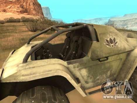 Ocelot UAZ-8 pour GTA San Andreas sur la vue arrière gauche