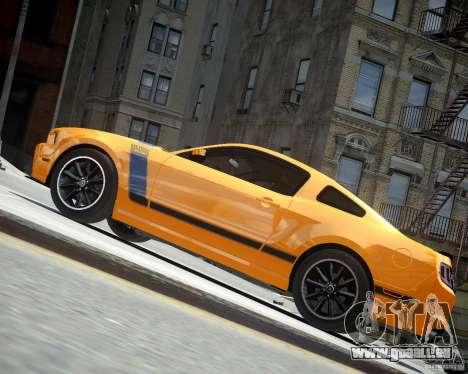 Ford Mustang Boss für GTA 4 Rückansicht