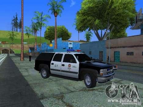 Chevrolet Suburban Los Angeles Police pour GTA San Andreas
