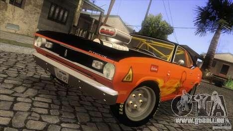 Plymouth Duster 440 pour GTA San Andreas vue intérieure