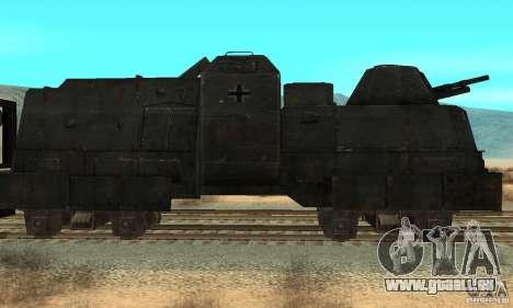 Deutscher Panzerzug der zweiten Welt für GTA San Andreas linke Ansicht