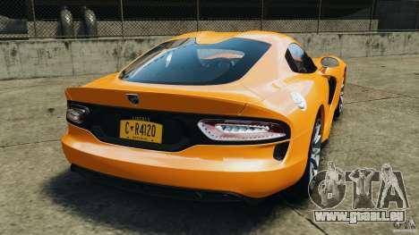 SRT Viper GTS 2013 für GTA 4 hinten links Ansicht
