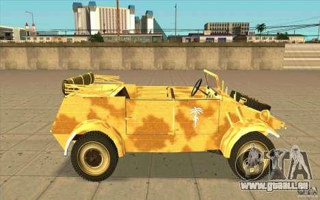 Kuebelwagen v2.0 desert pour GTA San Andreas laissé vue