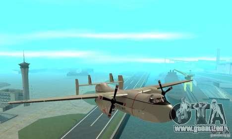 C-2 Greyhound für GTA San Andreas Rückansicht