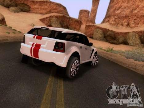 Bowler EXR S 2012 pour GTA San Andreas vue de droite