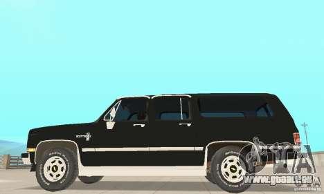 Chevrolet Suburban FBI 1986 pour GTA San Andreas sur la vue arrière gauche