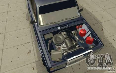 Lada VAZ-2107 rue dérive à l'écoute pour GTA San Andreas vue de dessous