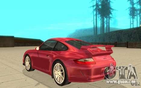 Porsche 911 (997) GT3 v2.0 für GTA San Andreas zurück linke Ansicht