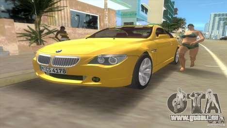 BMW 645Ci pour GTA Vice City vue latérale
