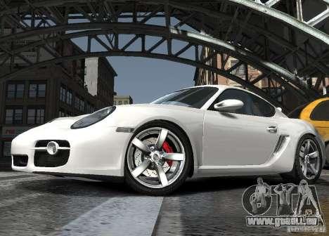 Porsche Cayman S1 pour GTA 4 est une vue de l'intérieur