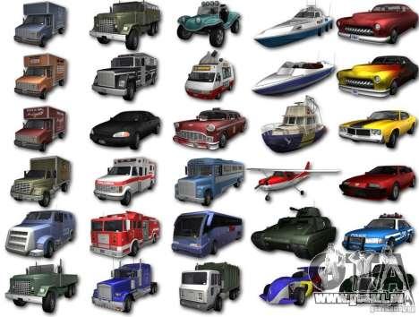 GTA3 HD Vehicles Tri-Pack III v.1.1 für GTA San Andreas zurück linke Ansicht