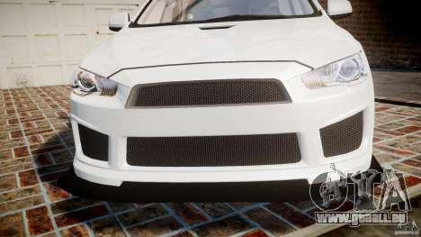 Mitsubishi Lancer Evolution X für GTA 4 obere Ansicht