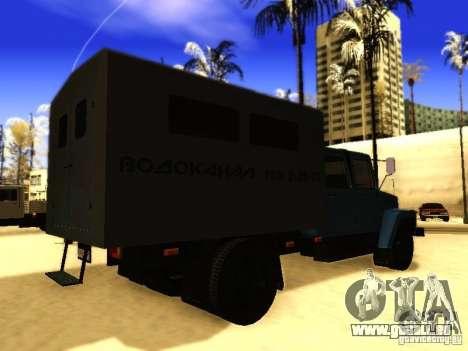 GAZ 3309 zweireihige für GTA San Andreas Rückansicht